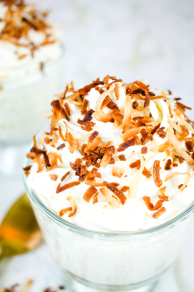 toasted coconut cream cheese mousse
