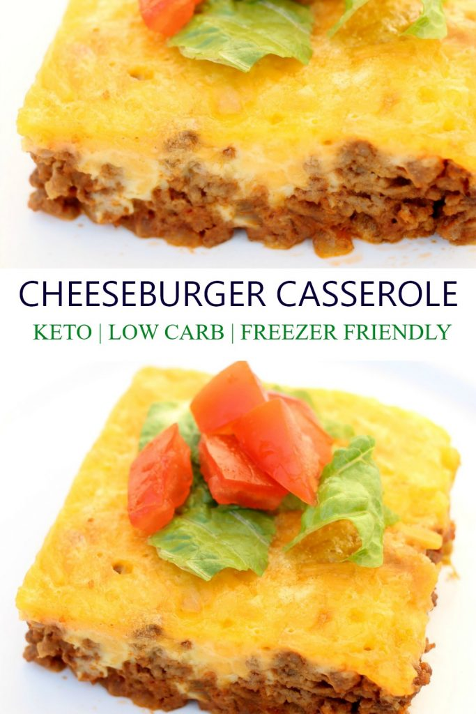 low carb bacon cheeseburger keto casserole bake