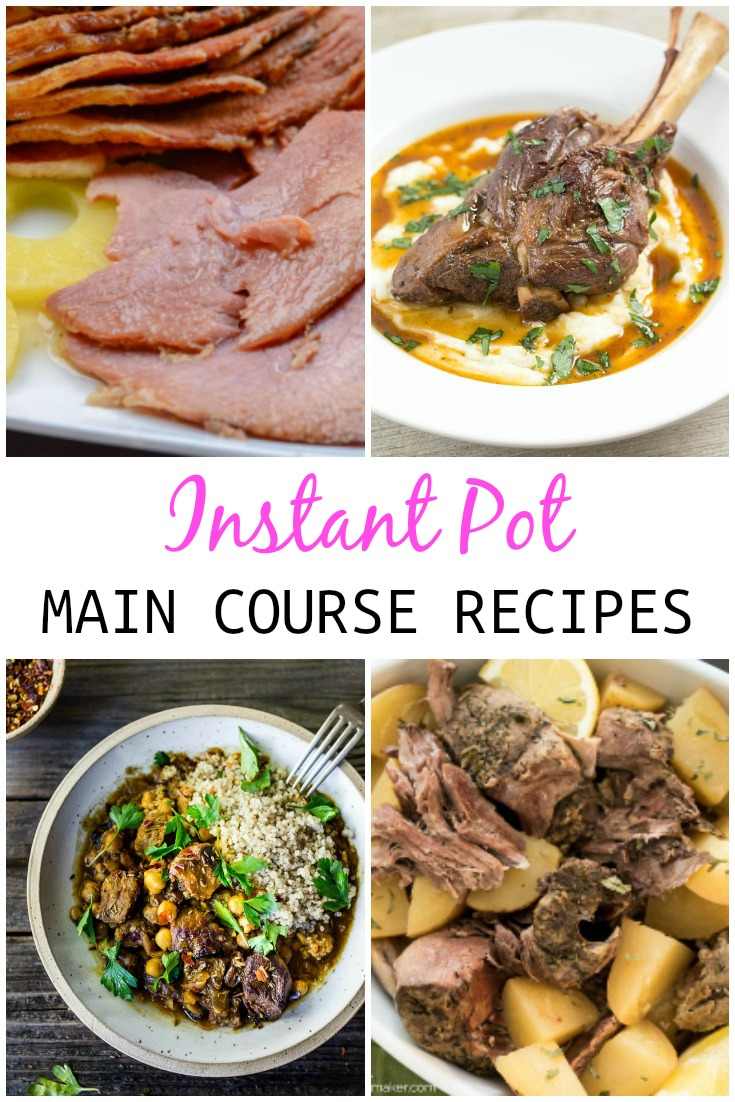 collage of meat recipes that can be made in instant pot