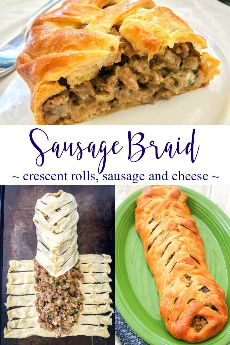 cream cheese crescent roll brunch braid