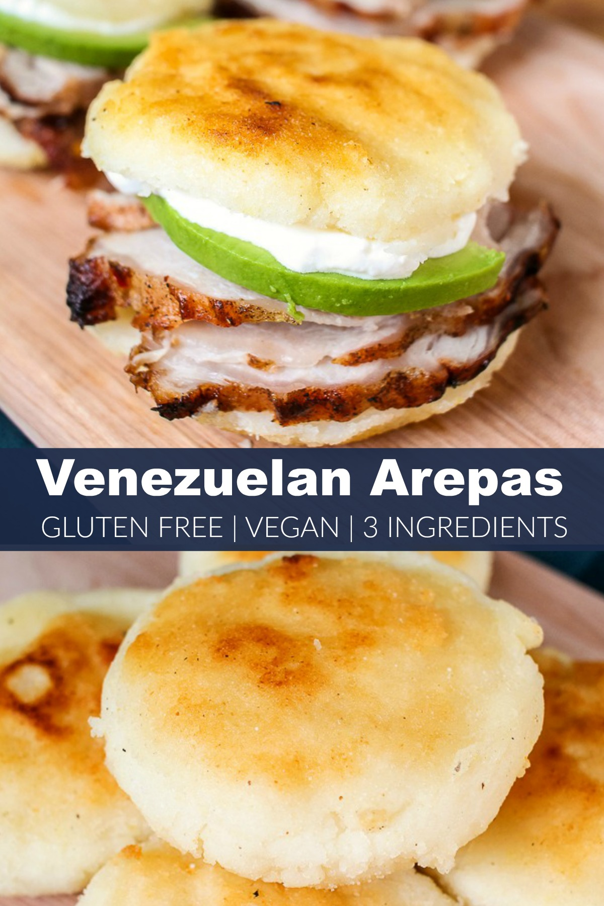 Venezuelan arepa recipe served as a sandwich or side dish