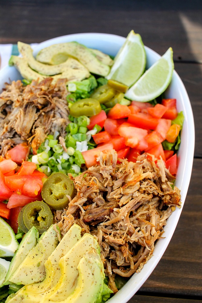 Mexican Pulled Pork Salad