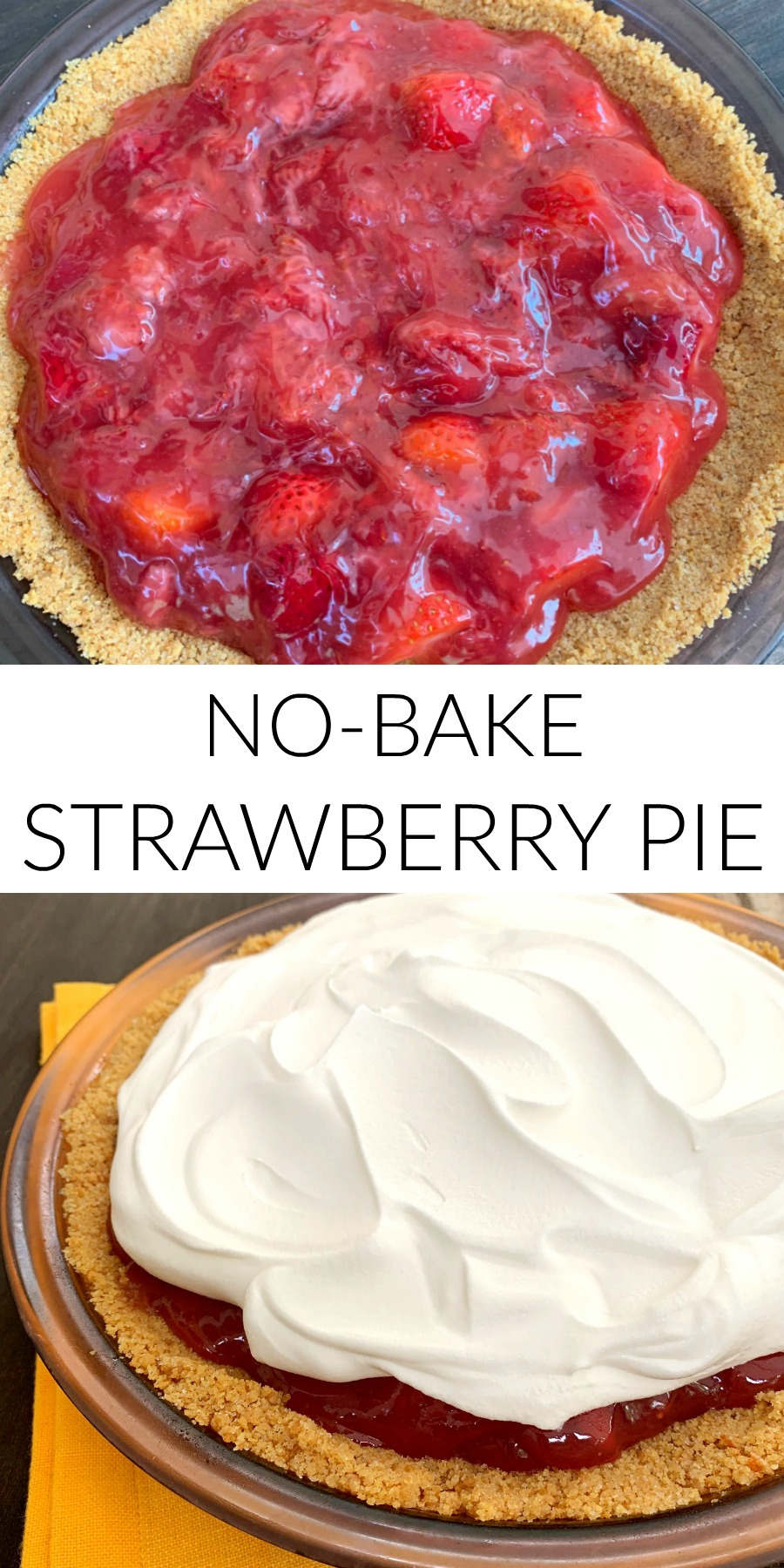 homemade no bake strawberry pie