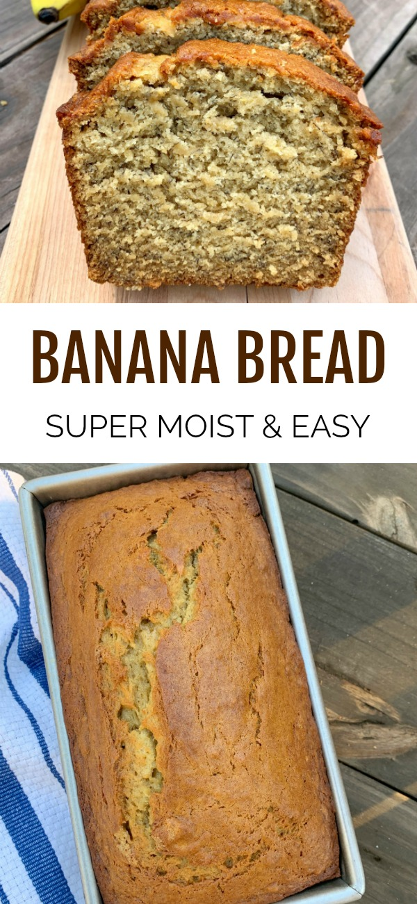 banana bread make with buttermilk pinterest image