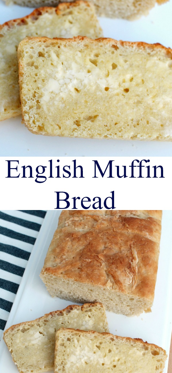 pinterest image for English Muffin Bread