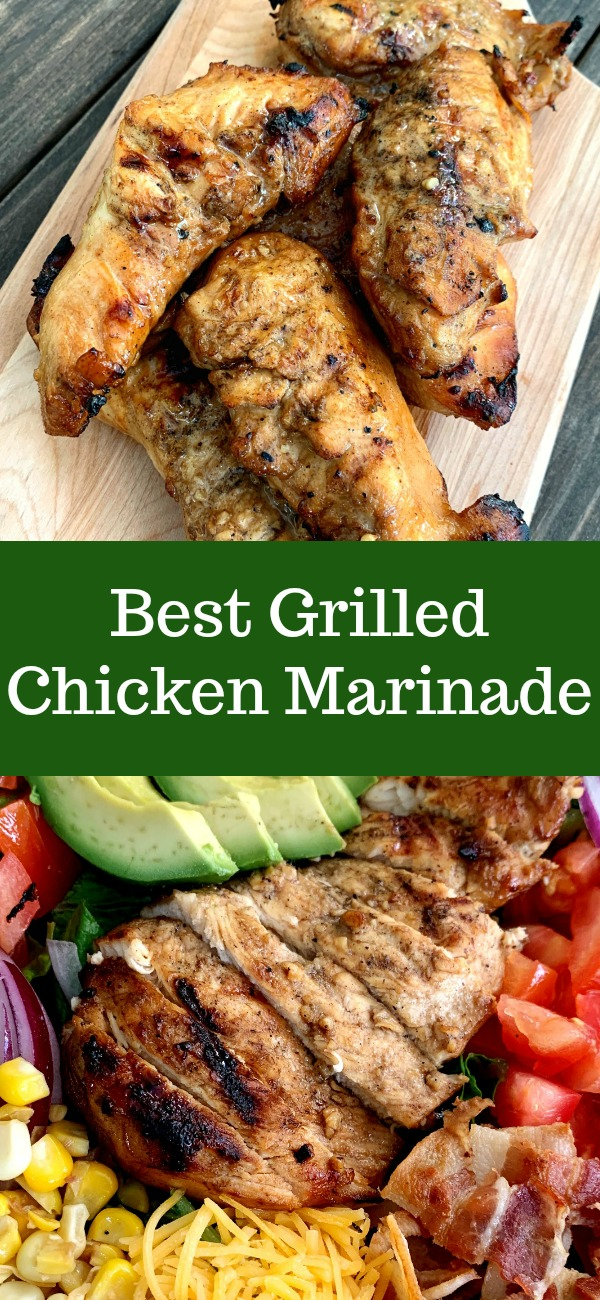 pinterest image for grilled chicken marinade