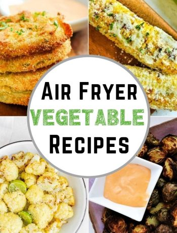 pinterest image for Air Fryer Vegetable Recipes