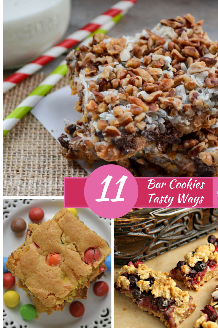 pinterest collage image for bar cookies
