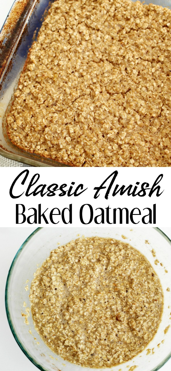 pinterest image for classic baked oatmeal
