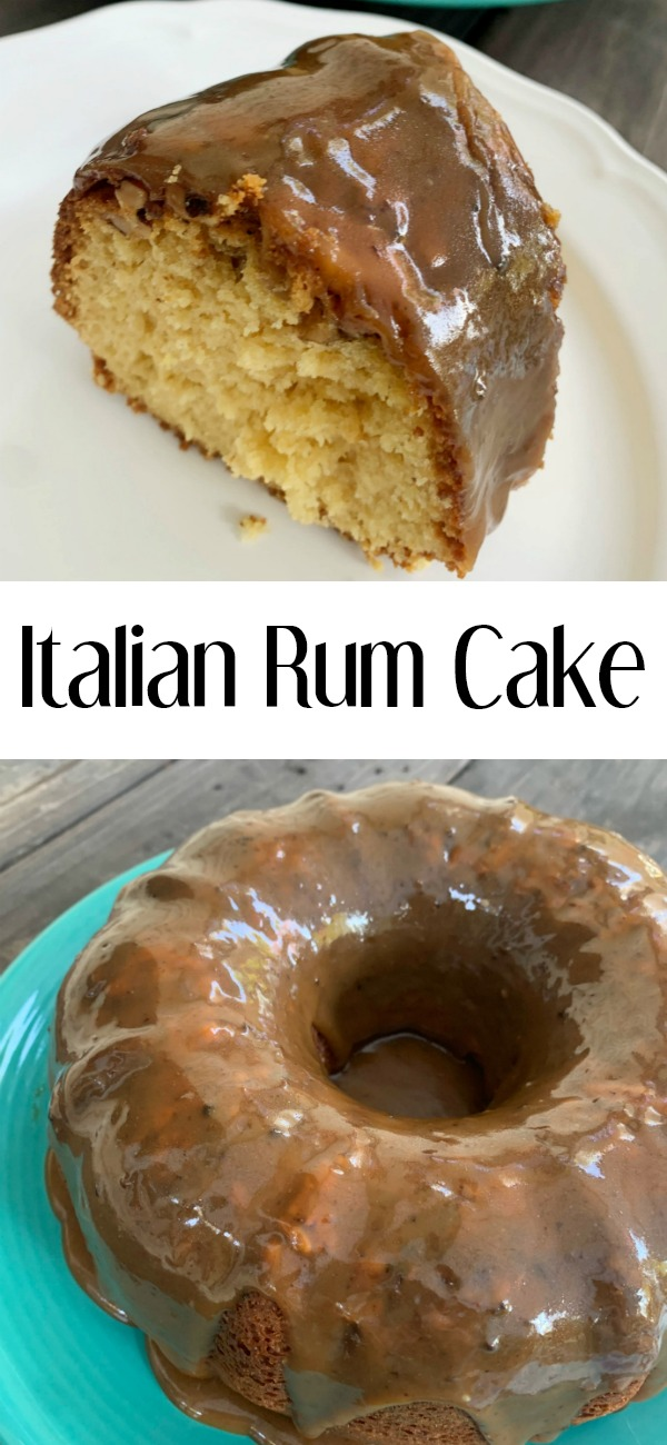 pinterest image for Italian Rum Cake