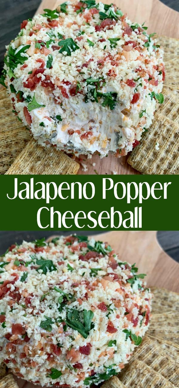 pinterest image for jalapeno popper cheeseball