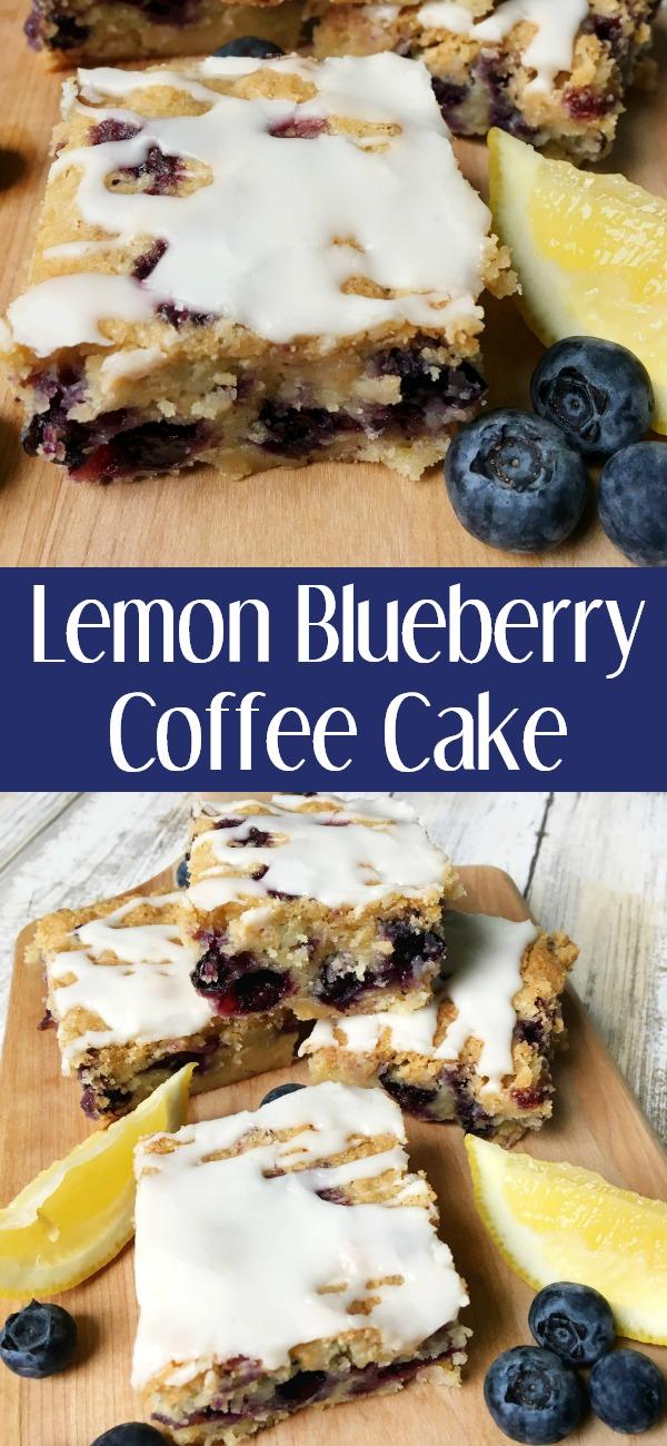 pinterest image for lemon blueberry coffee cake