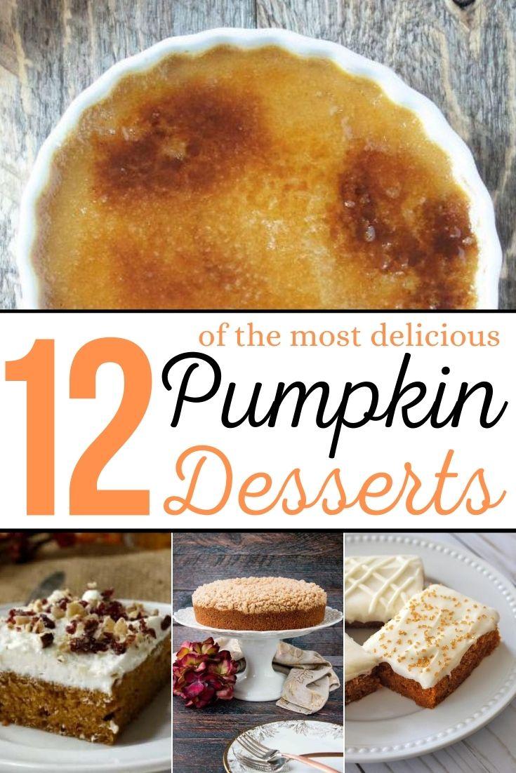 pinterest image for pumpkin dessert recipes
