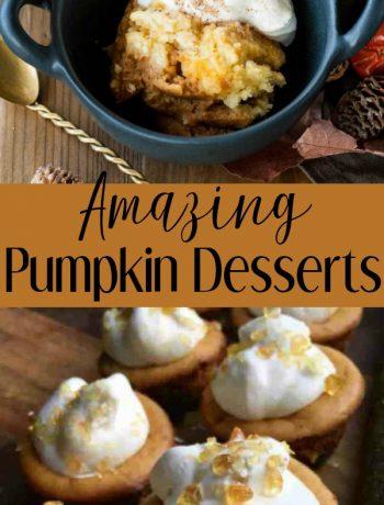 pinterest image for pumpkin desserts