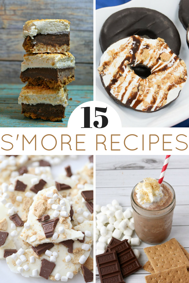 pinterest image for s'mores recipes