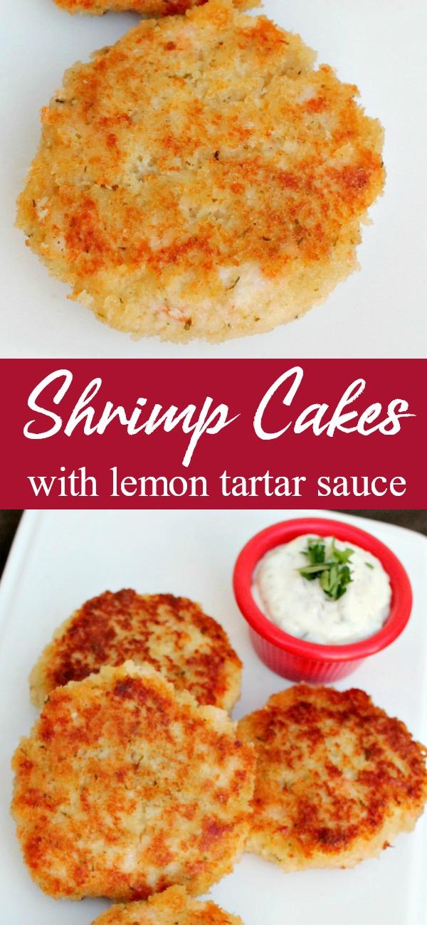 pinterest image for shrimp cakes