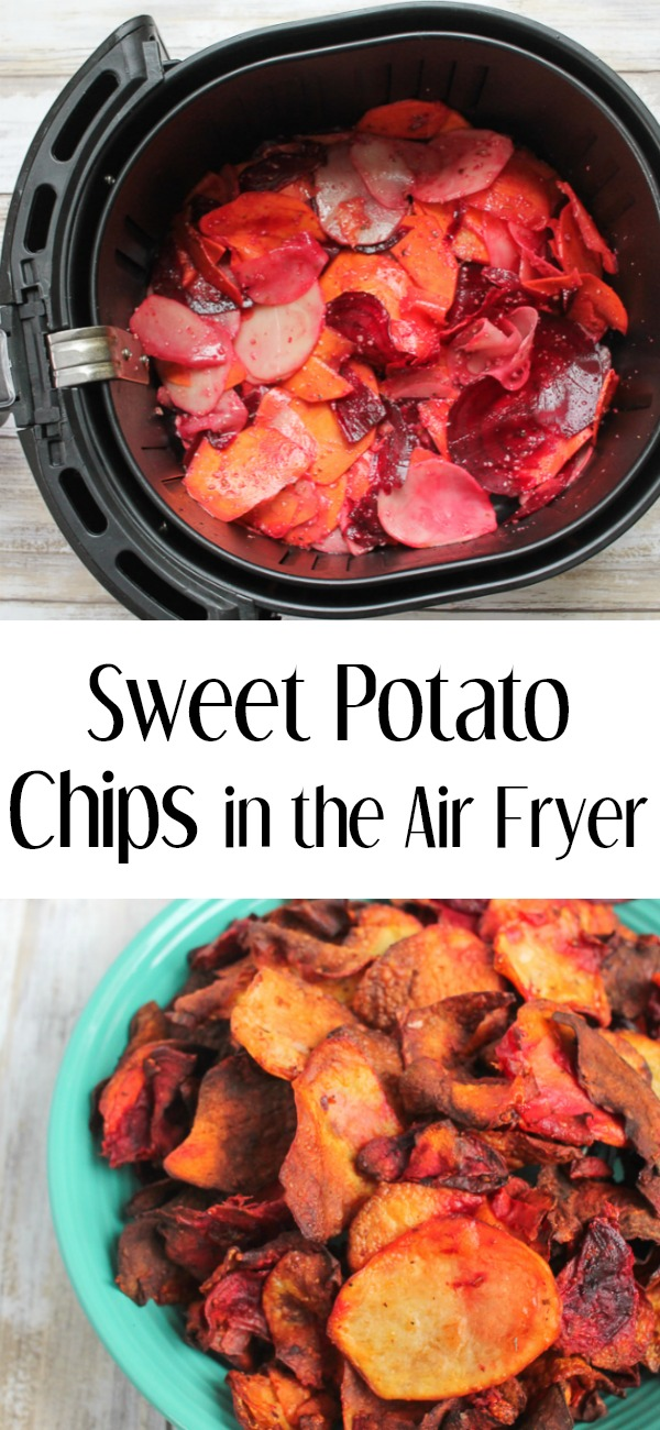 pinterest image for air fryer potato chips