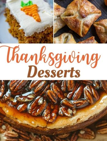 pinterest image for Thanksgiving desserts