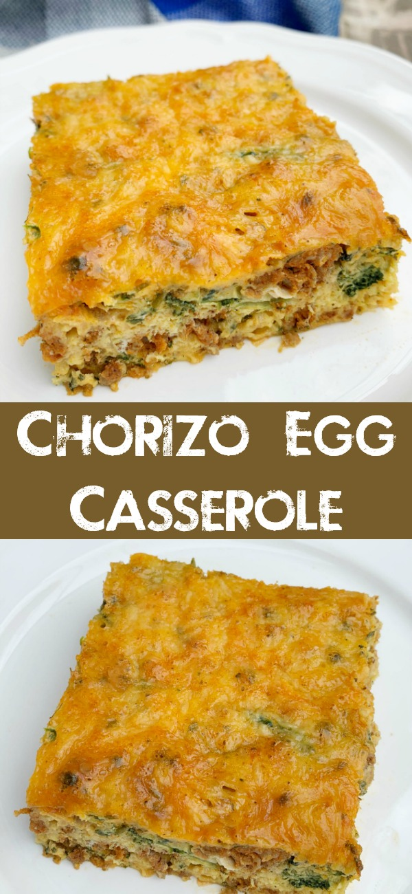 pinterest image for chorizo egg casserole