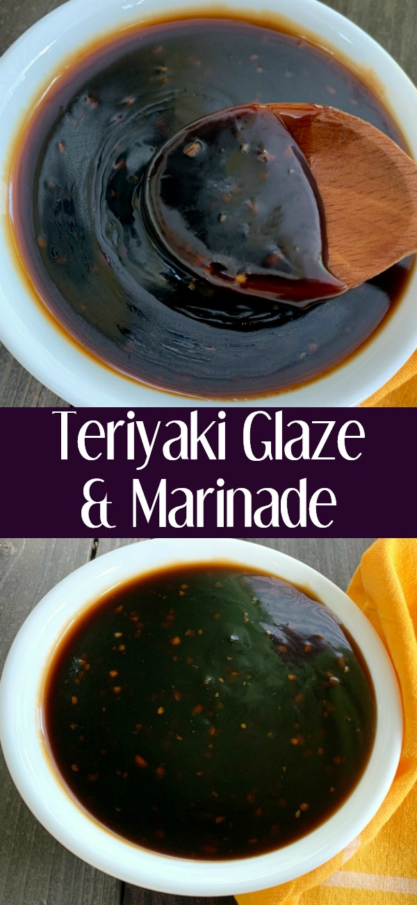 pinterest image for Teriyaki Glaze and Marinade