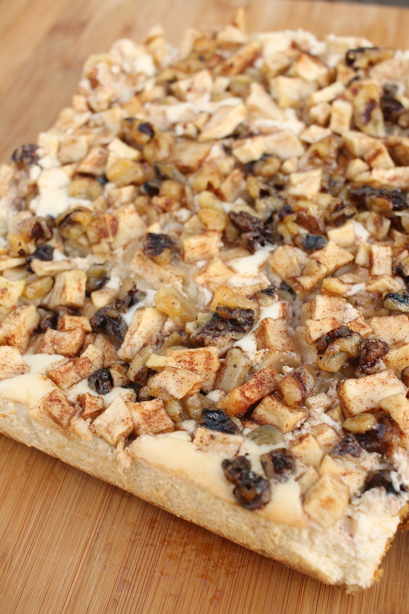 the whole slab of apple walnut cheesecake bars