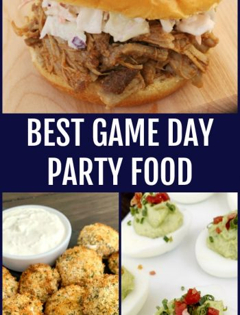 pinterest image for Best game day party food