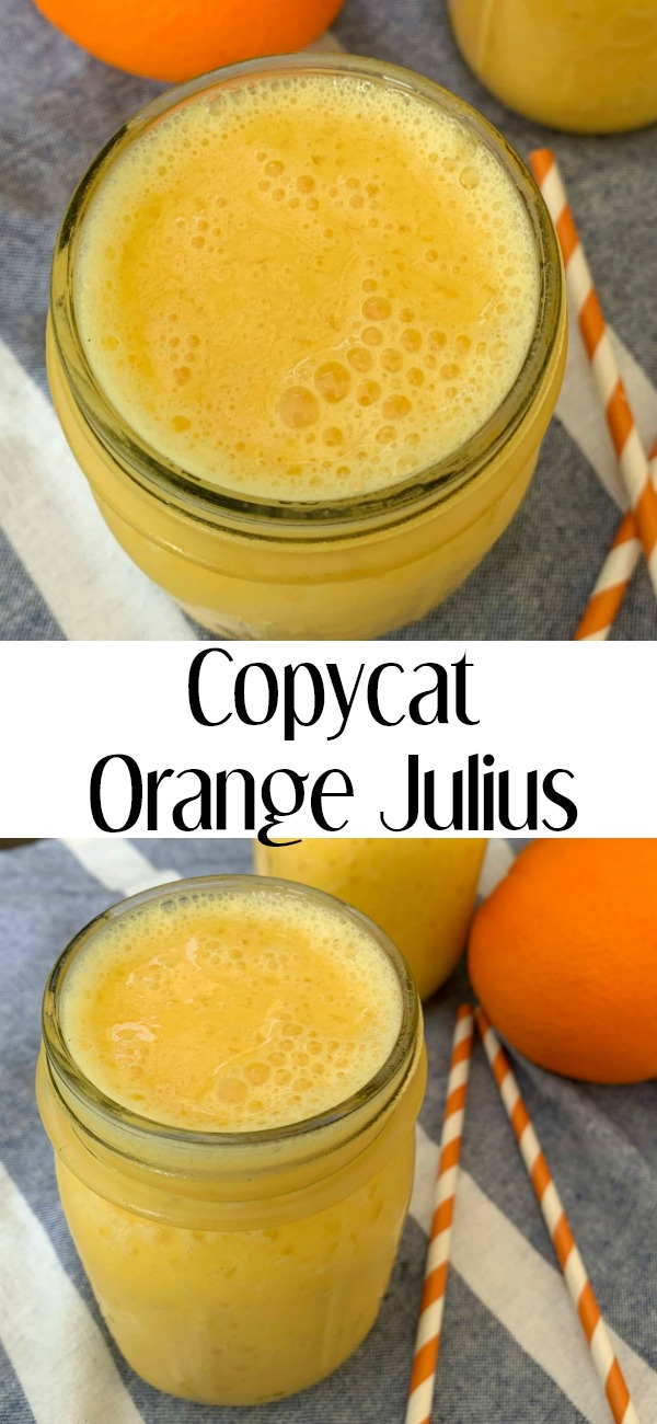 pinterest image for Copycat Orange Julius