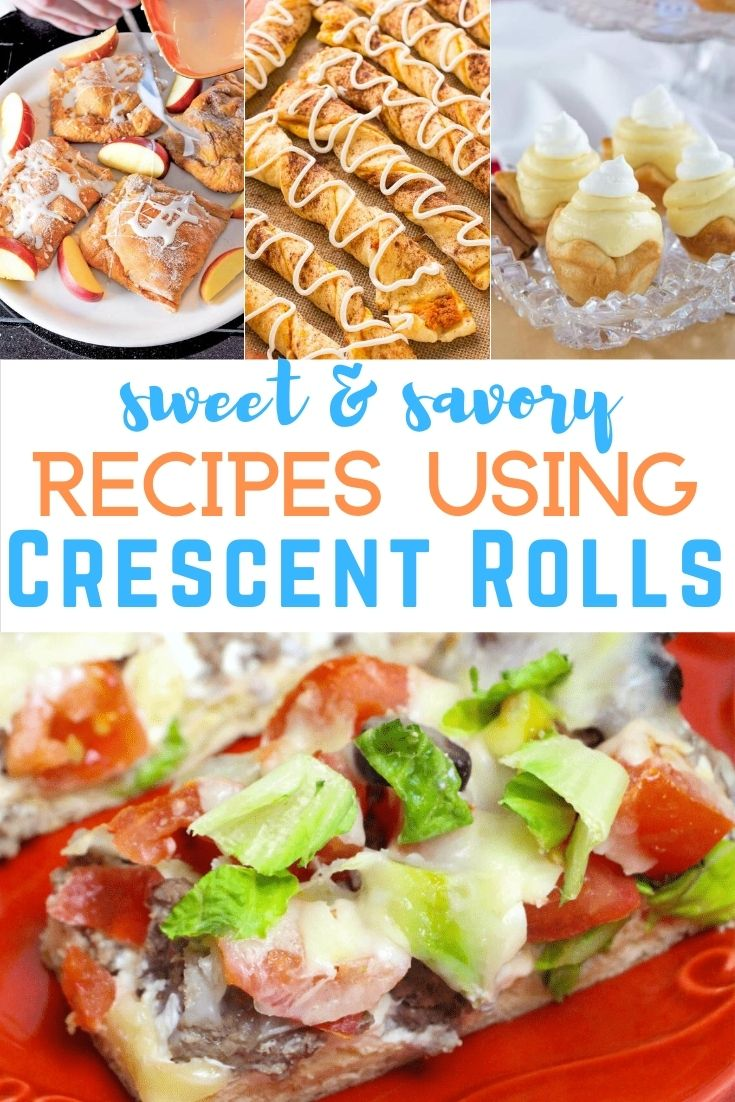pinterest image for Crescent Roll Recipes