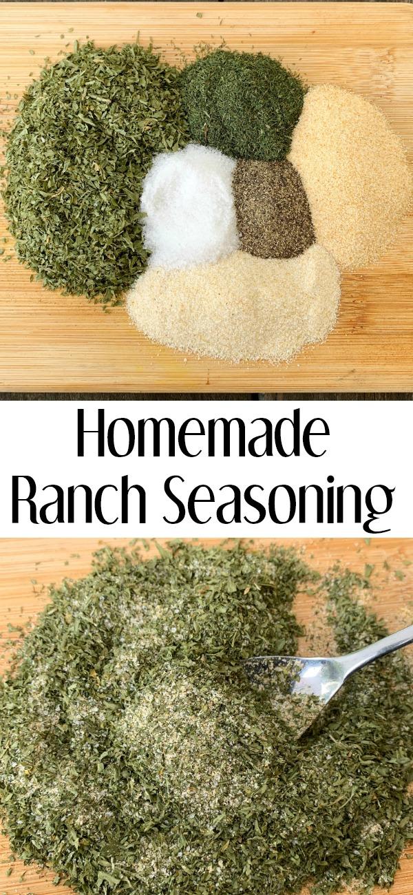pinterest image for Homemade Ranch Seasoning