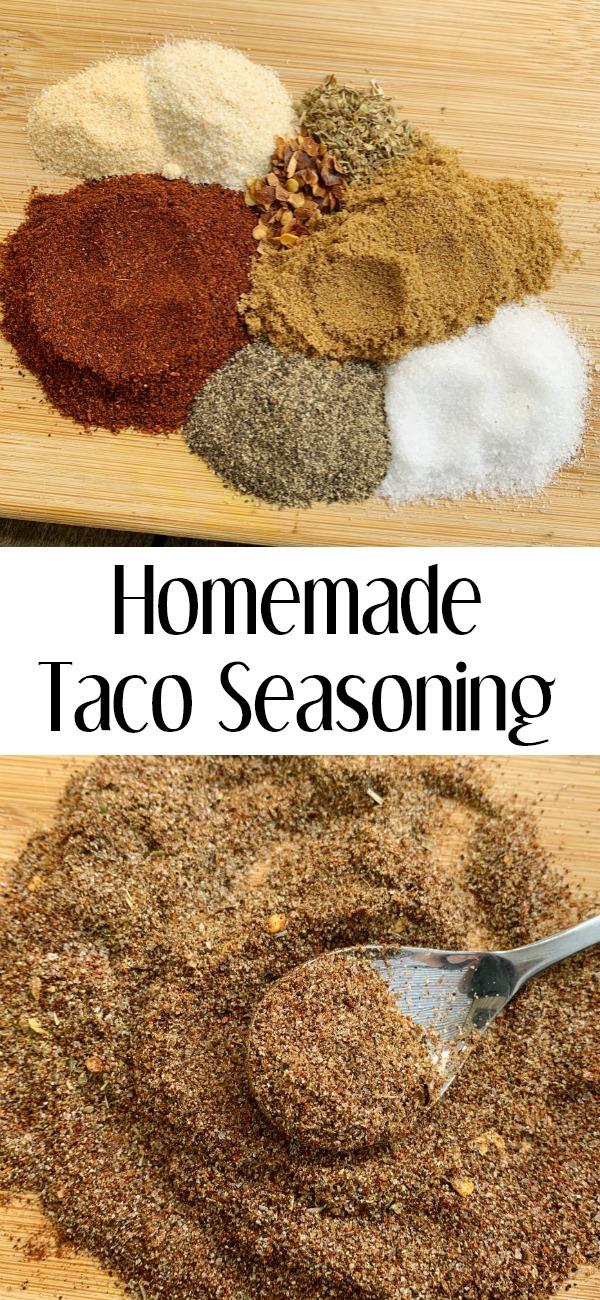 pinterest image for Homemade Taco Seasoning