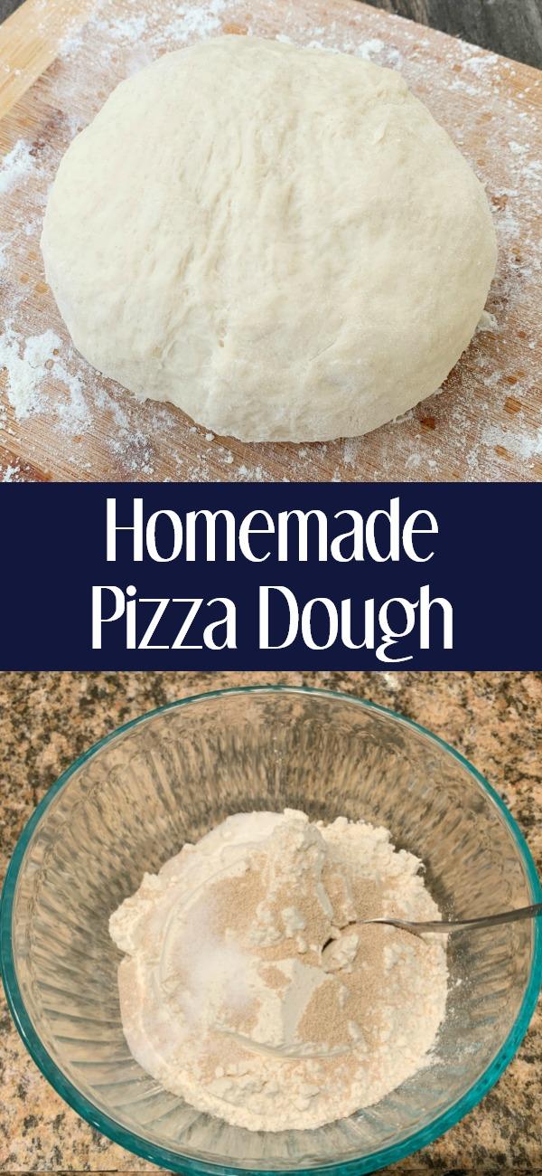 pinterest image for Homemade Pizza Dough