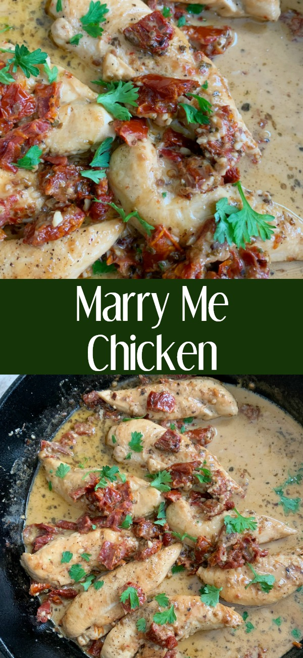 pinterest image for Marry Me Chicken