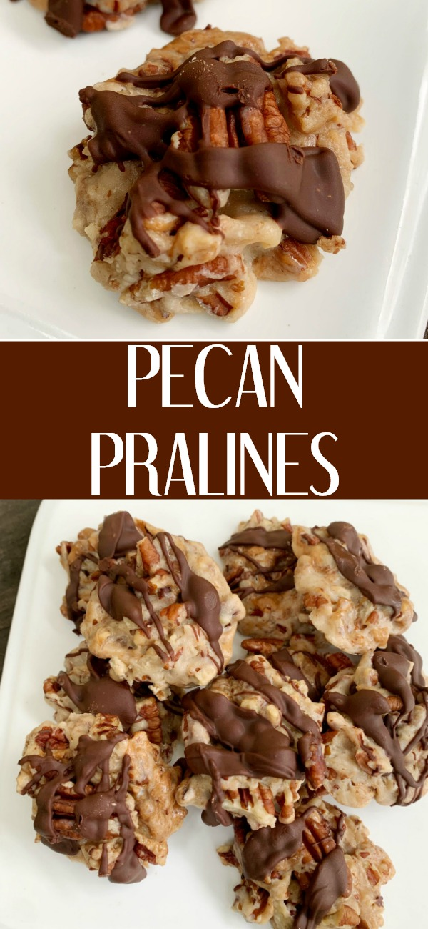 pinterest image for pecan pralines