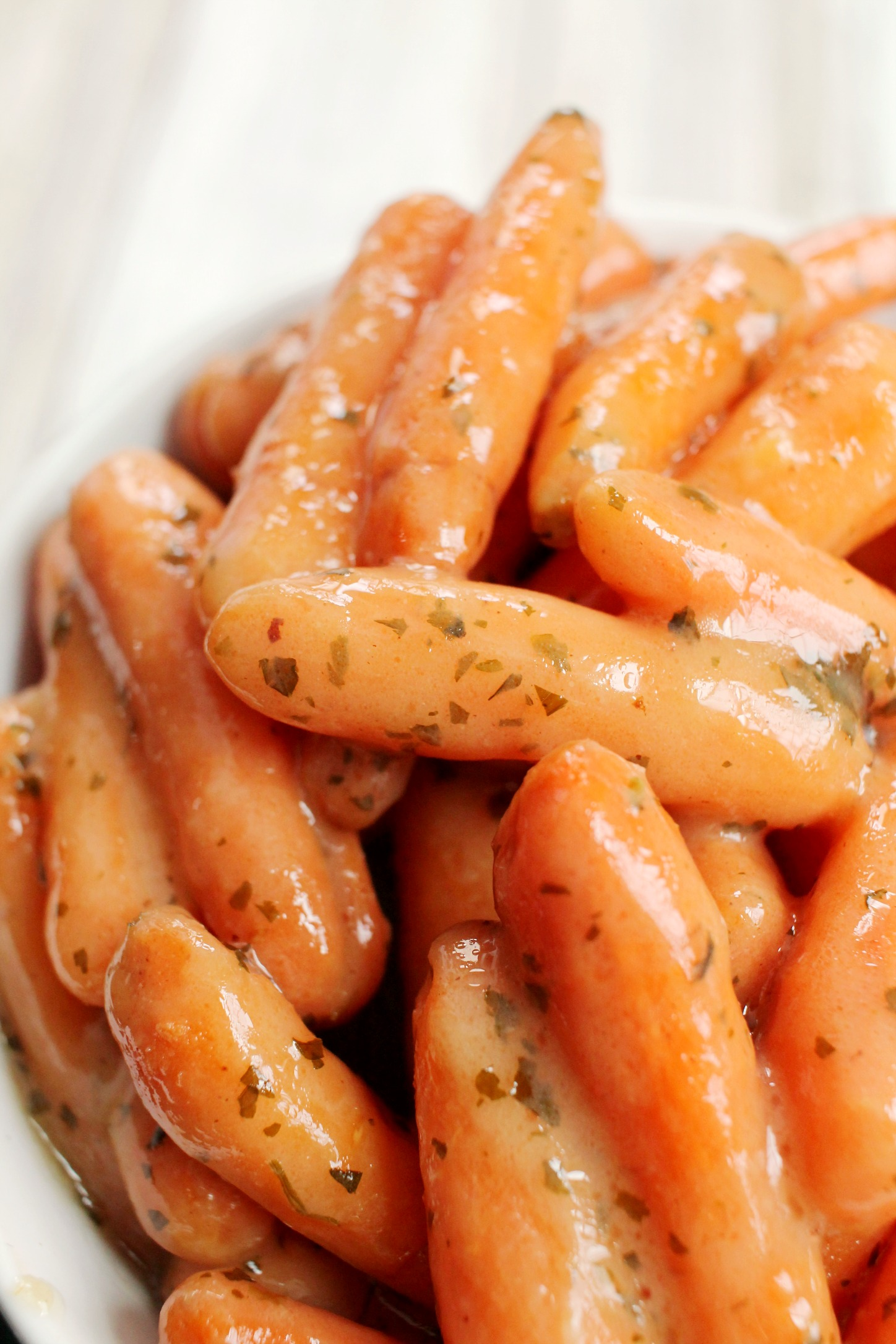 up close shot of Ranch Glazed Carrots