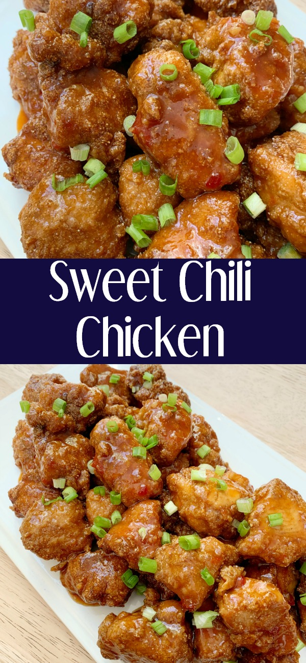 pinterest image for Sweet Chili Chicken