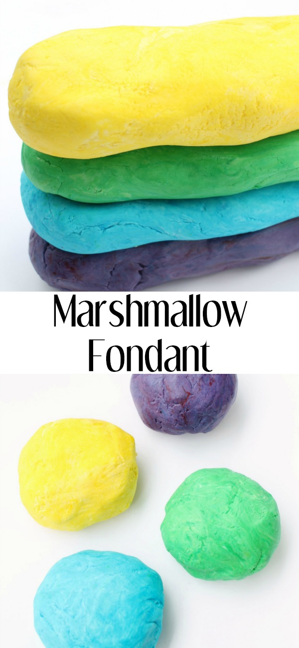 pinterest image for Marshmallow Fondant