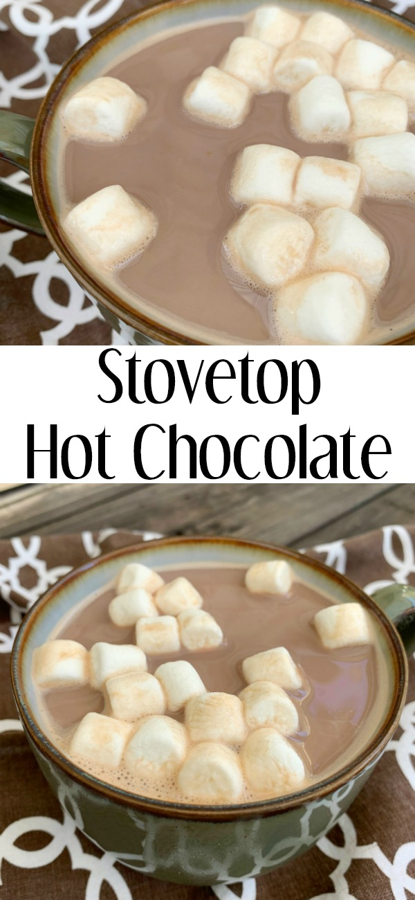 pinterest image for stovetop hot chocoalte